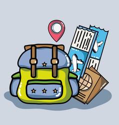 adventure destination travel to vacation tourism vector image