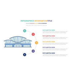 airport building infographic template concept vector image