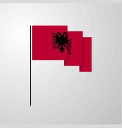 Albania waving flag creative background vector