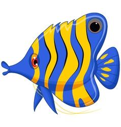 angel fish cartoon vector image