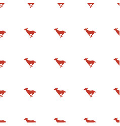 Antelope icon pattern seamless white background vector