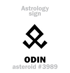 Astrology asteroid odin vector