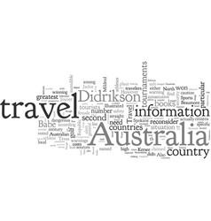 Australia travel cautionary measures vector