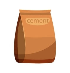 Bag of cement icon cartoon style vector image