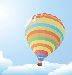 Balloon against the blue sky and clouds vector