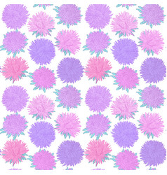 beautiful seamless pattern with vintage flowers vector image