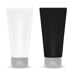 Black and white tube for cream or another cosmetic vector