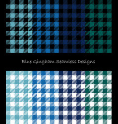 blue lumberjack seamless pattern collection vector image