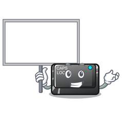 Bring board capslock button on a computer cartoon vector