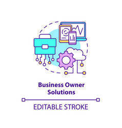 Business owner solutions concept icon vector
