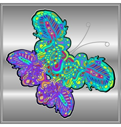 Butterfly doodle zentangle inspired art vector