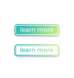 buttons for web learn more vector image