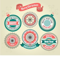 CCalligraphic Design Elements of Merry Christmas vector image