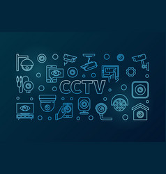 Cctv blue horizontal line vector