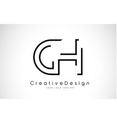 Ch c h letter logo design in black colors vector
