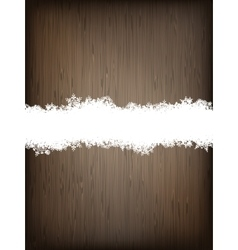Christmas brown wooden background EPS 10 vector image