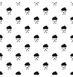 Clouds and hail pattern simple style vector