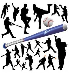 collection baseball vector image