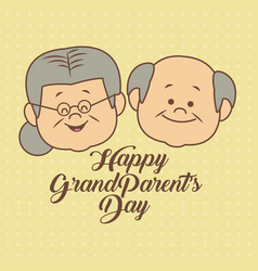 Color dotted background card with faces grandma vector