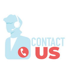 Contact us helpdesk with operator call center vector