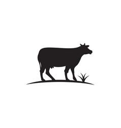 cow logo template icon vector image
