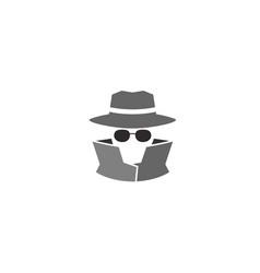 creative hidden detective logo vector image