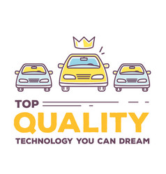 Creative of three cars with header vector