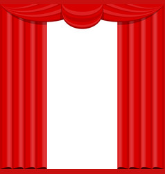 curtains with lambrequins on the stage vector image