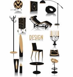 design silhouettes vector image