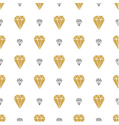 diamond seamless pattern hand drawn sketched vector image