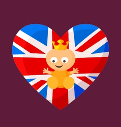 English Royal Baby vector image