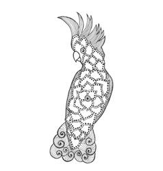 Entangle stylized cockatoo vector
