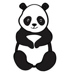 fat panda on white background vector image
