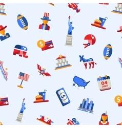 Flat design USA travel postcard with landmarks vector image