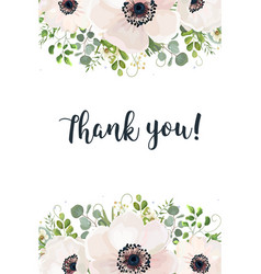 floral card watercolor design floral garden white vector image