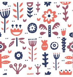 Folk art pattern vector