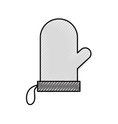 Glove holderpot kitchen tool icon vector