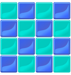 green and blue tiles texture seamless vector image