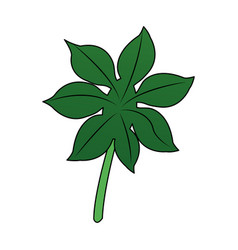 green leaf icon image vector image