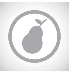 Grey pear sign icon vector image
