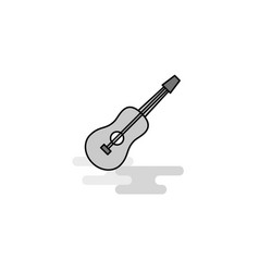 guitar web icon flat line filled gray icon vector image