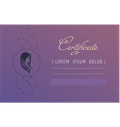 hair extensions or hairdresser certificate vector image