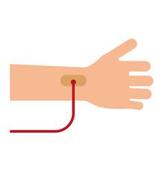 Hand transfusion drop vector