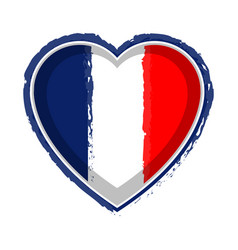 Heart shaped flag of france vector