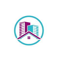 Home building cityscape business logo vector