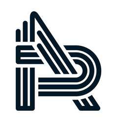 initial letter a design logo vector image