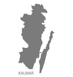 Kalmar sweden map grey vector