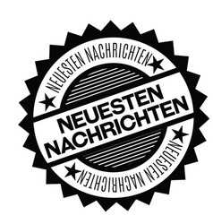 Latest news stamp in german vector
