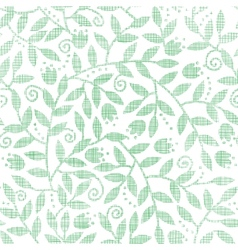 Leaves and swirls textile seamless pattern vector