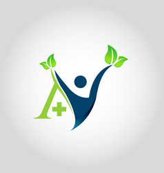 logo design for health care vector image